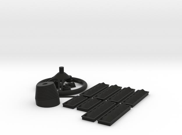 SC38 fitting Set I 1:5 in Black Natural Versatile Plastic