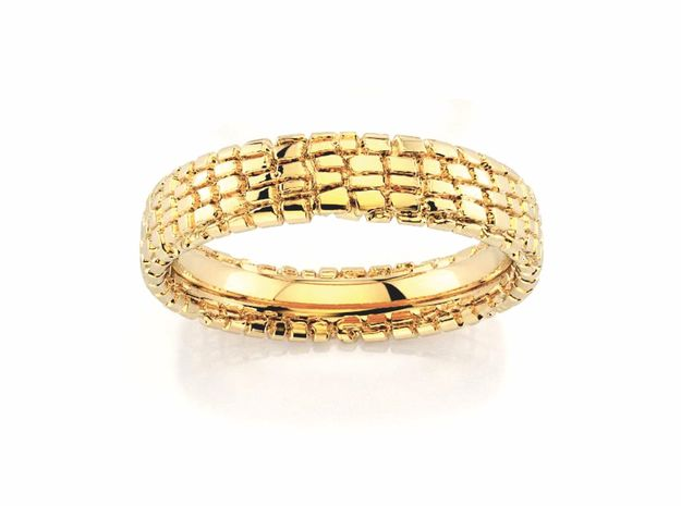 Wedding Ring Street 5 mm in 18k Gold Plated Brass: 8.5 / 58