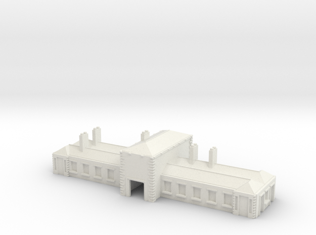 Station Uk Mainline Stone Building T gauge in White Natural Versatile Plastic