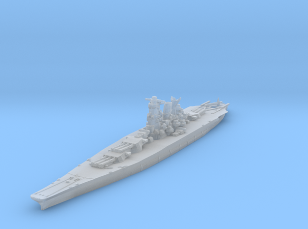 Musashi (1942) 1/1800 in Smooth Fine Detail Plastic