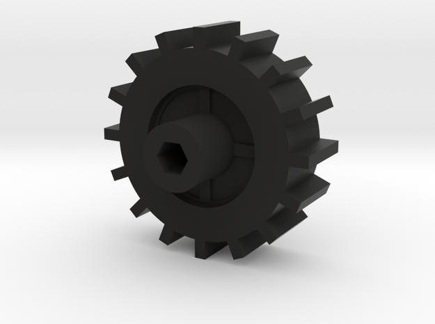 WPL Fitted Track Sprocket in Black Natural Versatile Plastic