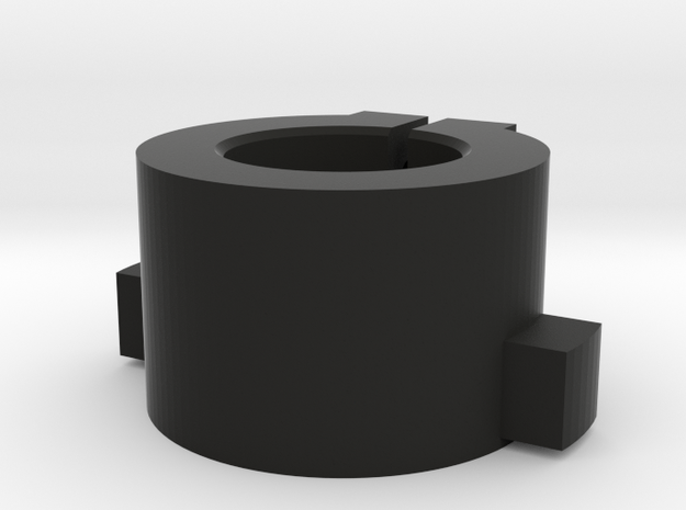 WPL Rear Track Adaptor - free version in Black Natural Versatile Plastic