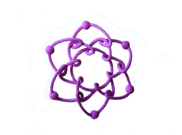Daisychain in Purple Processed Versatile Plastic
