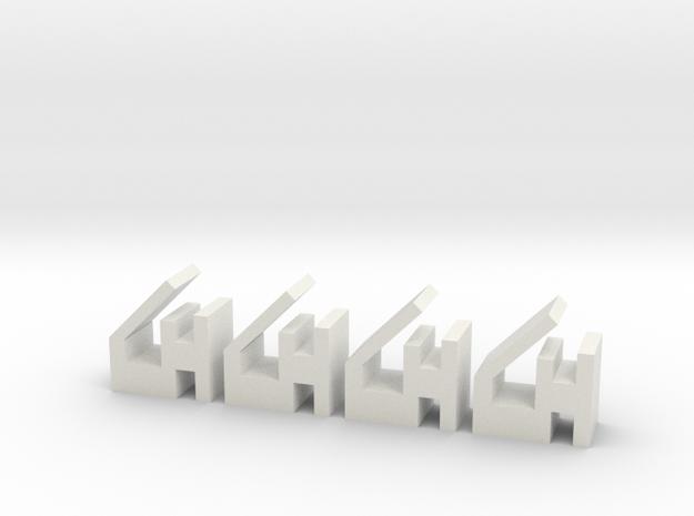 Quad 303 PCB Retaining Clips 4 in White Natural Versatile Plastic