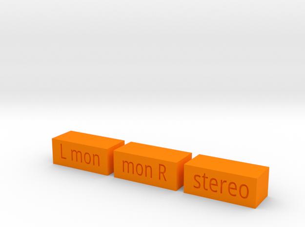 Quad 33 Buttons Marigold in Orange Processed Versatile Plastic