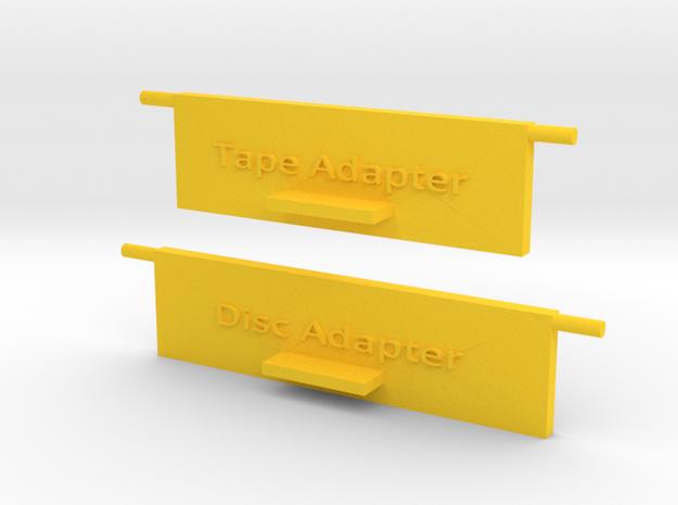 Quad 33 Rear Flaps in Yellow Processed Versatile Plastic