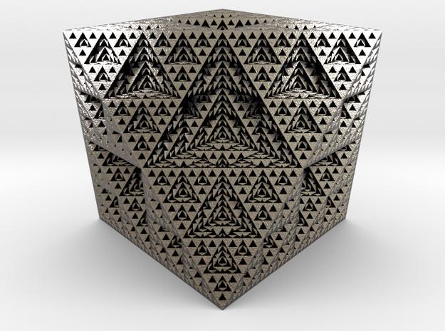 Fractal ornament 2 in Polished Nickel Steel