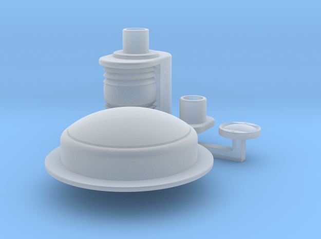 Deck lamp, Stern and Top light Wellcraft SC38 in Smooth Fine Detail Plastic: 1:10