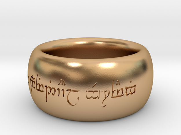 "One Ring from ""The Lord of the Rings"" with individ in Polished Bronze"