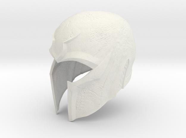 Magneto X-men DOFP helmet 1/6 th scale  in White Natural Versatile Plastic