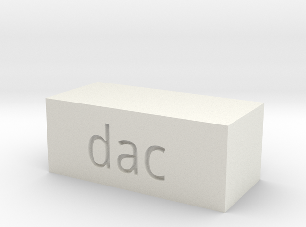 Quad 33 DAC Button in White Natural Versatile Plastic