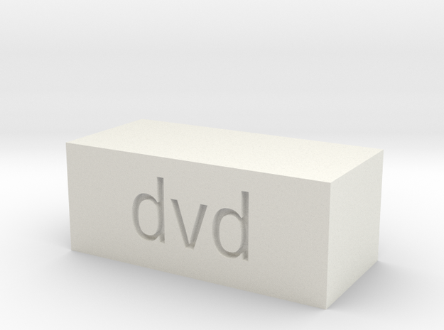 Quad 33 DVD Button in White Natural Versatile Plastic
