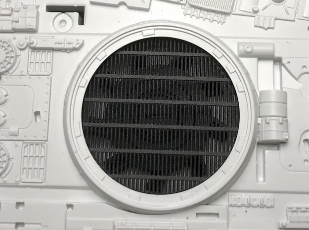 Perfect Grade Falcon 1:72 grilles, No Koolshade in Smooth Fine Detail Plastic