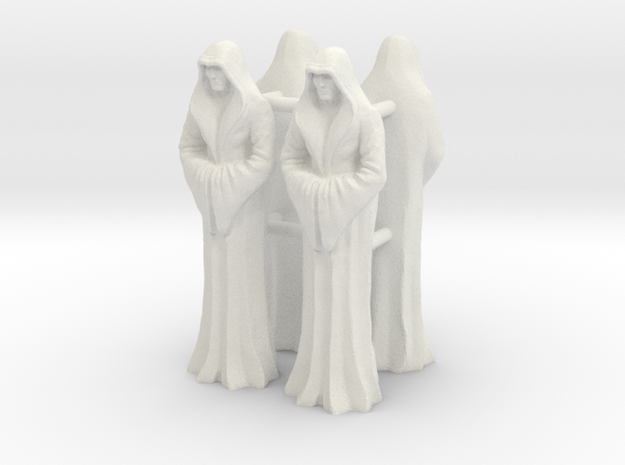 Imperial_Saint_40mm_x4 in White Natural Versatile Plastic