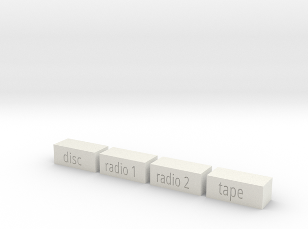 Quad 33 Input Buttons in White Natural Versatile Plastic