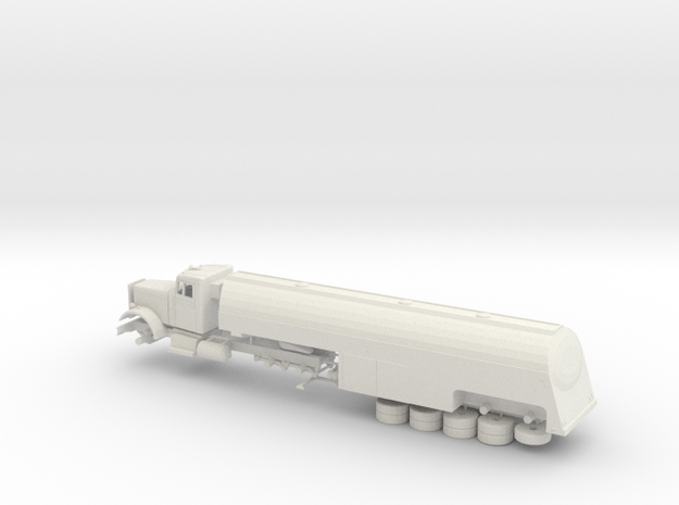 1/72 1955 Peterbilt 281 Tanker Trailer Kit in White Natural Versatile Plastic