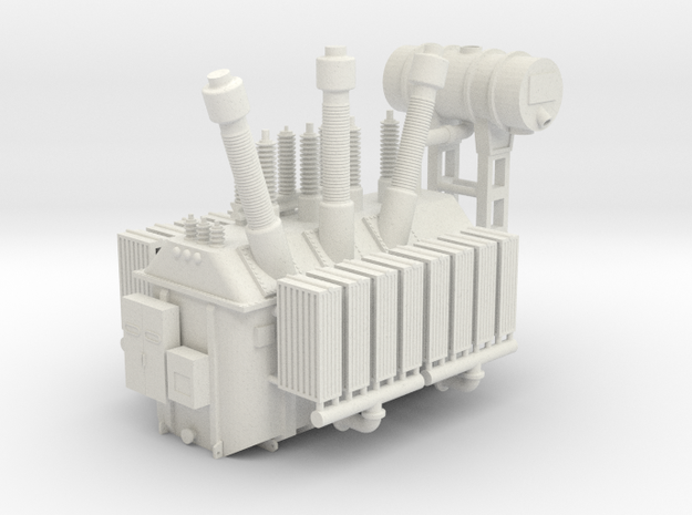 138kV Transformer Assembly in White Natural Versatile Plastic: 1:160 - N