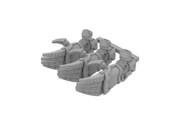 Miniature scale - Iron Wolf Claws LEFT (3pc) in Smoothest Fine Detail Plastic
