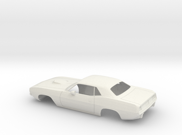 1/12 1971 Plymouth Baracuda in White Natural Versatile Plastic