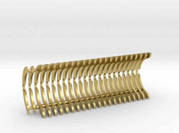 Heat Sink Fins (full) for PP Starkiller in Natural Brass
