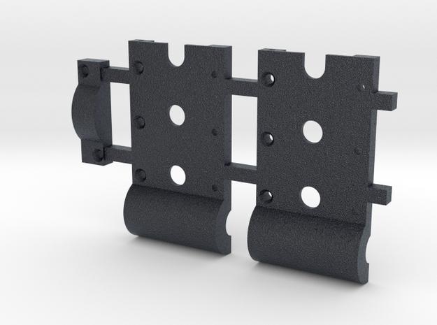 HO Gear Box Case 0.3 mod Double Idler 3mm Axle in Black Professional Plastic