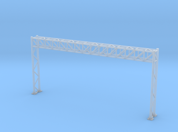 N Scale Sign Gantry 90mm in Smooth Fine Detail Plastic