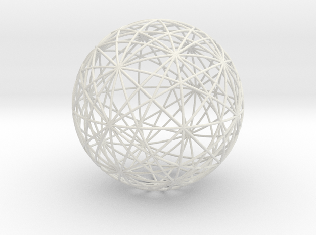 Symmetry Sphere of the Cuboctahedron in White Natural Versatile Plastic