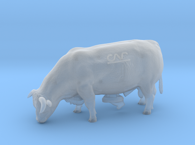 1/64 Grazing Horned Hereford Bull- Mature in Smooth Fine Detail Plastic