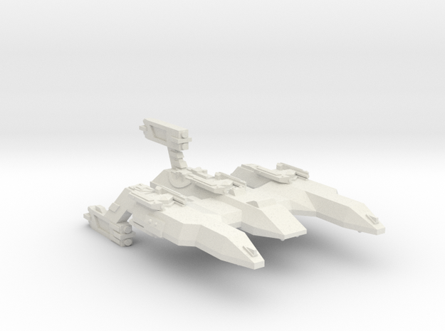 3788 Scale Lyran Firecat Battle Control Ship CVN in White Natural Versatile Plastic