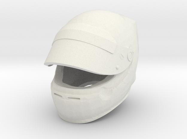 Helmet F1 1/8 open visor in White Natural Versatile Plastic