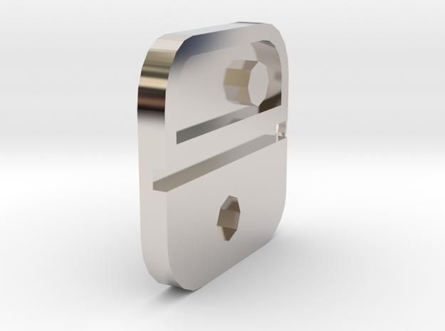 Nintendo Switch Logo Pendant in Rhodium Plated Brass