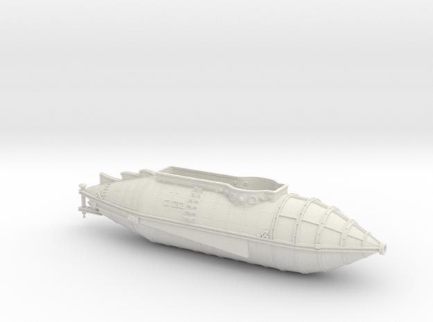 Six Flags Nautilus - Round Bottom Version - Hull O in White Natural Versatile Plastic