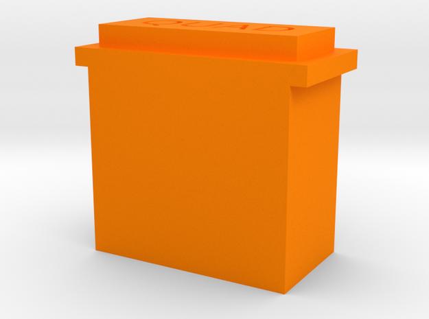 Quad 33 Bezel in Orange Processed Versatile Plastic