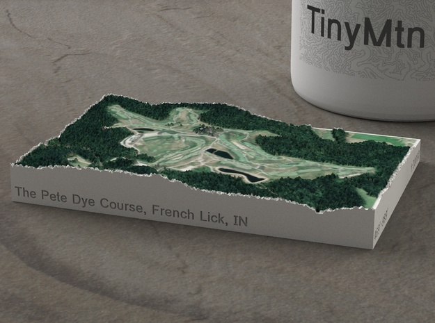 The Pete Dye Course, French Lick, Indiana, 1:20000 in Natural Full Color Sandstone