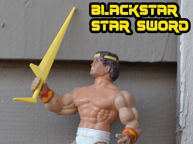 Blackstar Star Sword (3mm, 4mm, 5mm) in Yellow Processed Versatile Plastic: Medium