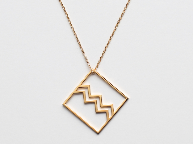Aquarius in 18k Gold Plated Brass