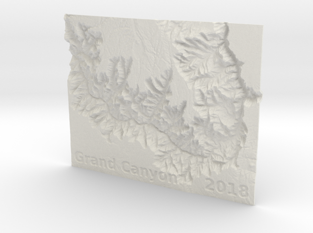 Grand Canyon Ornament - 2018 Special in White Natural Versatile Plastic