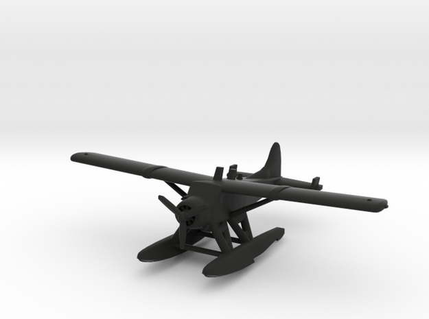 de Havilland Canada DHC-2 Beaver Seaplane in Black Natural Versatile Plastic: 1:200