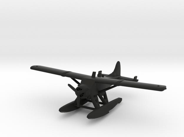 de Havilland Canada DHC-2 Beaver Seaplane in Black Natural Versatile Plastic: 1:200
