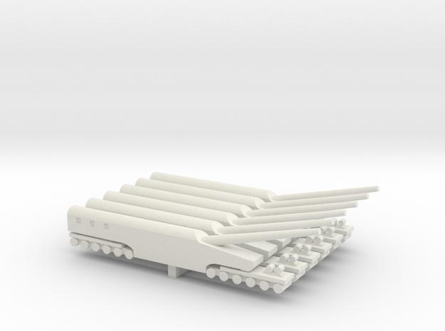 WWI Railway Gun x6 in White Natural Versatile Plastic