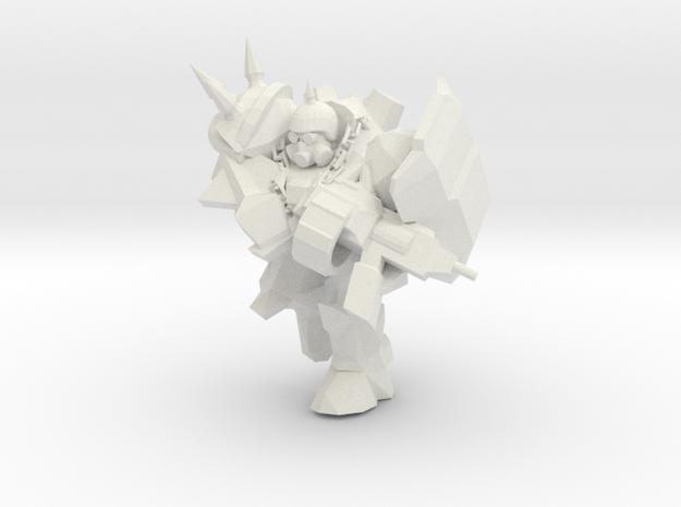 Punk Marine 1  in White Natural Versatile Plastic