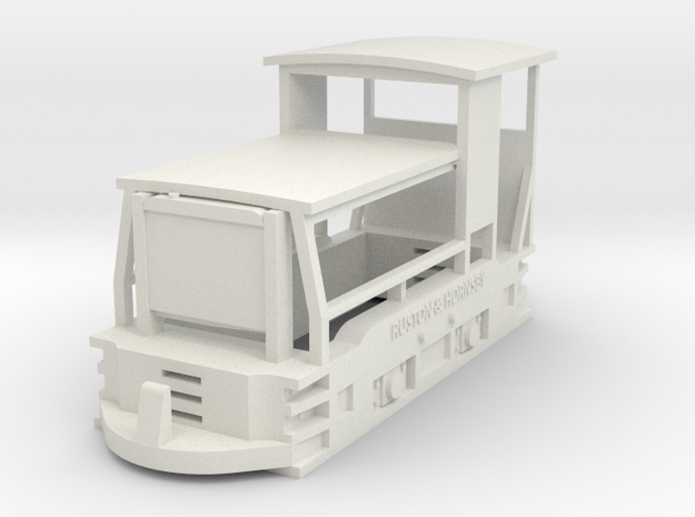 Freelance style ruston locomotive (OO9) in White Natural Versatile Plastic