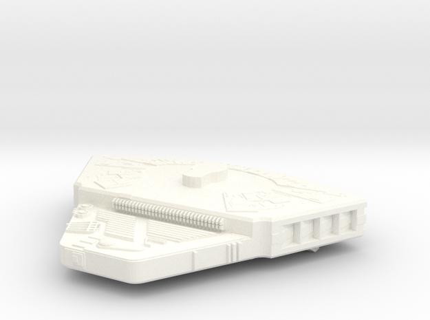 1400 ktinga bridge Wedge in White Processed Versatile Plastic