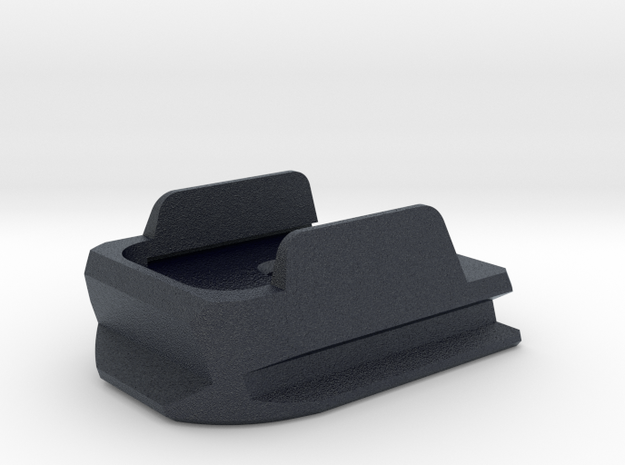 SIG P320 IDPA Extended X Frame Base Pad - Round in Black PA12