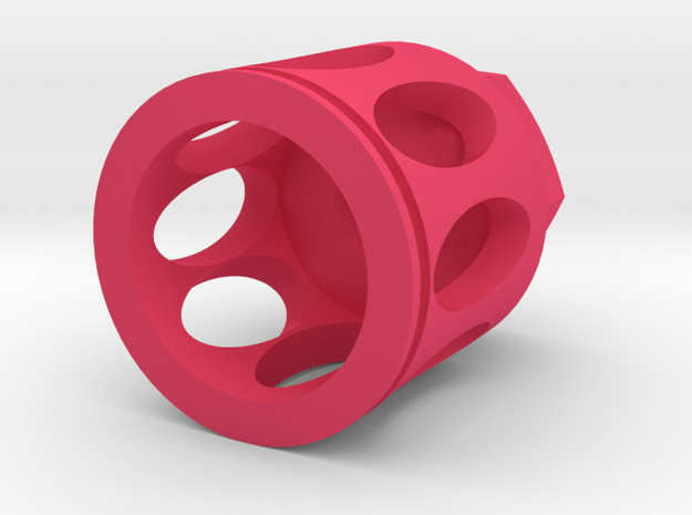Rex Muzzle Flash Hider 14mm- Nylon Polymer in Pink Processed Versatile Plastic