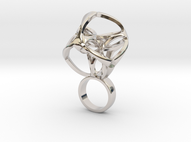 Matricix small in Rhodium Plated Brass