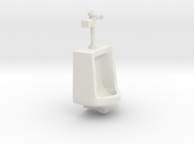 1:18 Scale Urinal with Auto Flush Unit in White Natural Versatile Plastic