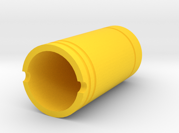 Airsoft Amplifier Nozzle (14mm-) in Yellow Processed Versatile Plastic
