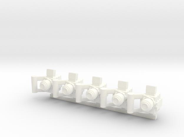 Modern RedPro Camera in White Processed Versatile Plastic