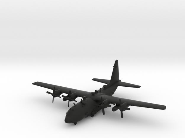 Lockheed AC-130U Spooky in Black Natural Versatile Plastic: 1:239